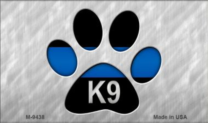 Thin Blue Line Paw K-9 Wholesale Novelty Metal Magnet