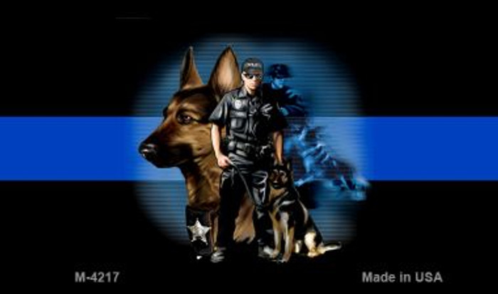 Thin Blue Line Police K-9 Wholesale Novelty Metal Magnet