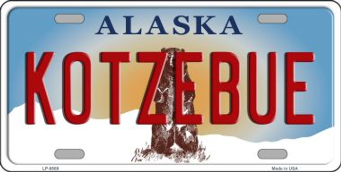 Kotzebue Alaska State Background Novelty Wholesale Metal License Plate