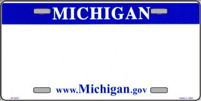 Michigan Novelty State Background Blank Wholesale Metal License Plate LP-2237