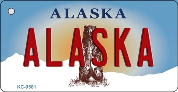 Alaska State Background Wholesale Novelty Key Chain