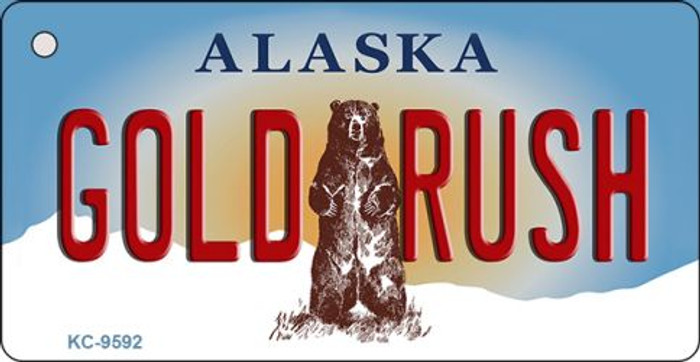 Gold Rush Alaska State Background Wholesale Novelty Key Chain