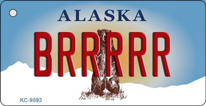Brrrrr Alaska State Background Wholesale Novelty Key Chain