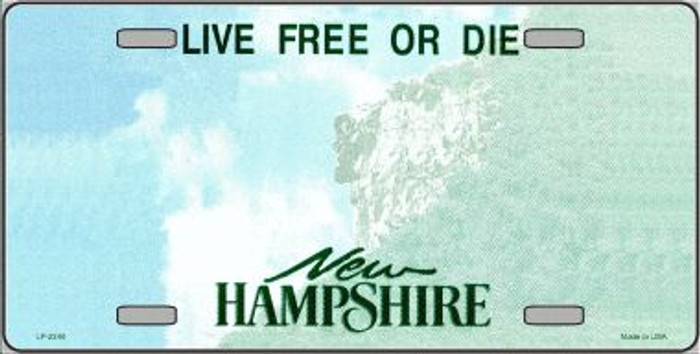 New Hampshire Novelty State Background Blank Wholesale Metal License Plate LP-2244