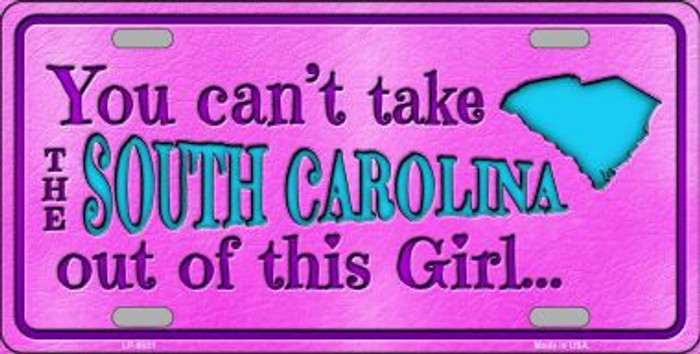 South Carolina Girl Novelty Wholesale Metal License Plate