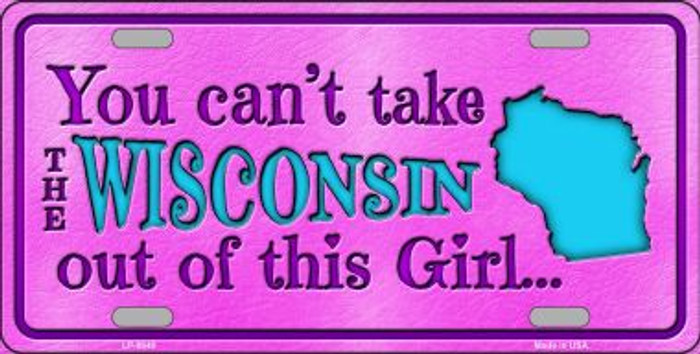 Wisconsin Girl Novelty Wholesale Metal License Plate