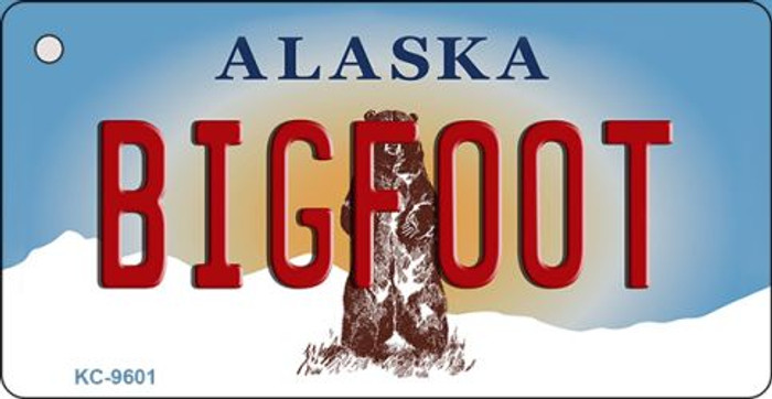 Bigfoot Alaska State Background Wholesale Novelty Key Chain