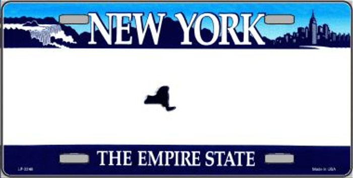 New York State Novelty State Background Blank Wholesale Metal License Plate LP-2246