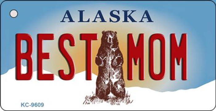 Best Mom Alaska State Background Wholesale Novelty Key Chain