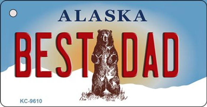 Best Dad Alaska State Background Wholesale Novelty Key Chain