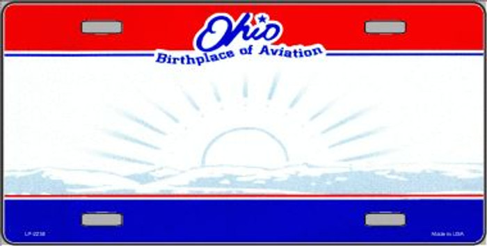 Ohio Novelty State Background Blank Wholesale Metal License Plate LP-2250