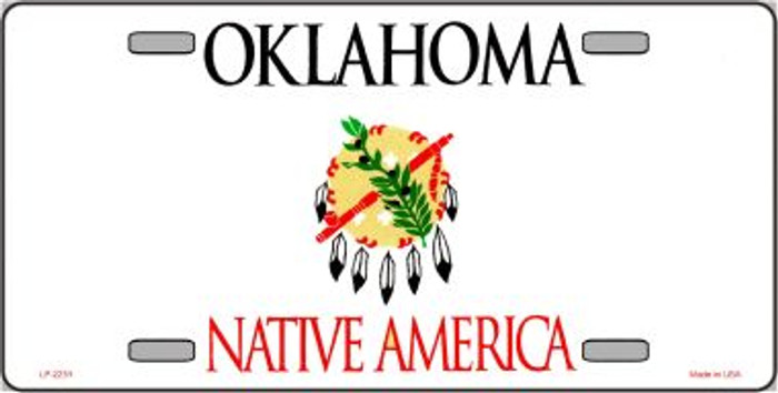 Oklahoma Novelty State Background Blank Wholesale Metal License Plate LP-2251
