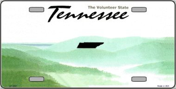 Tennessee Novelty State Background Blank Wholesale Metal License Plate LP-2257