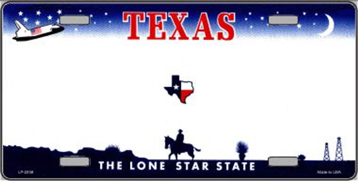 Texas Novelty State Background Blank Wholesale Metal License Plate LP-2258