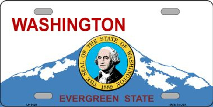 Washington Background With Seal Novelty Wholesale Metal License Plate