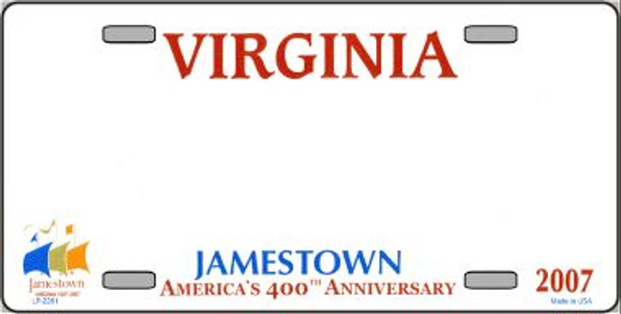 Virginia Novelty State Background Blank Wholesale Metal License Plate LP-2261