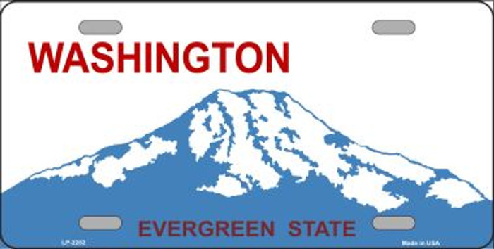 Washington Novelty State Background Blank Wholesale Metal License Plate LP-2262