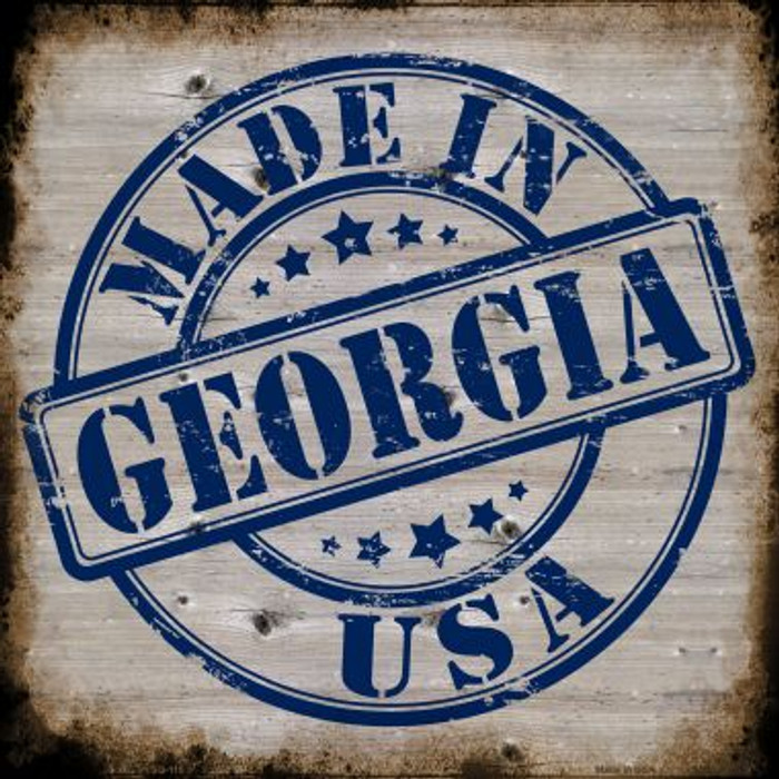 Georgia Stamp On Wood Wholesale Novelty Metal Square Sign