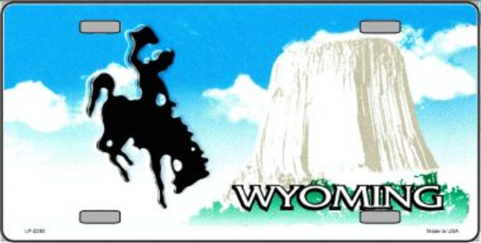 Wyoming Novelty State Background Blank Wholesale Metal License Plate LP-2265