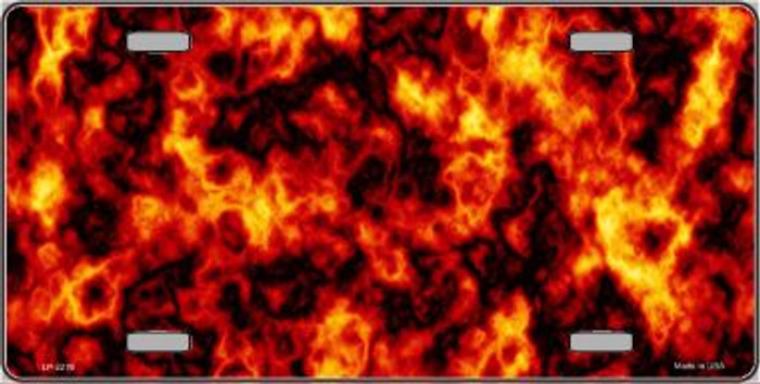 Fire Explosion Wholesale Metal Novelty License Plate