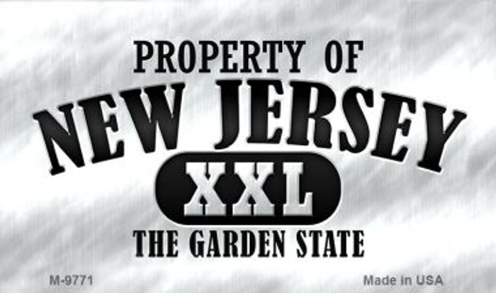 Property Of New Jersey Wholesale Novelty Metal Magnet