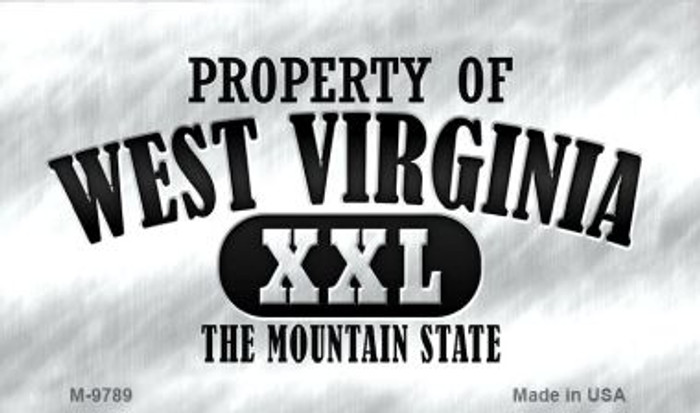 Property Of West Virginia Wholesale Novelty Metal Magnet