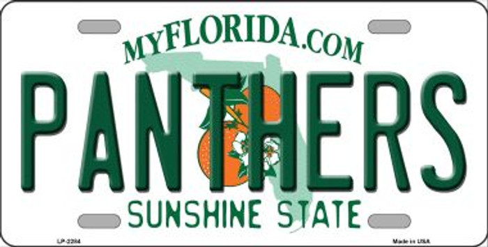 Panthers Florida Novelty State Background Wholesale Metal License Plate LP-2284