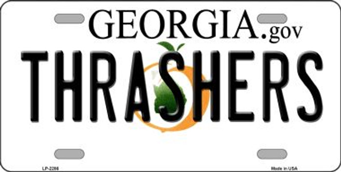 Thrashers Georgia Novelty State Background Wholesale Metal License Plate LP-2286