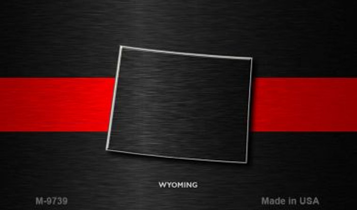 Wyoming Thin Red Line Wholesale Novelty Metal Magnet