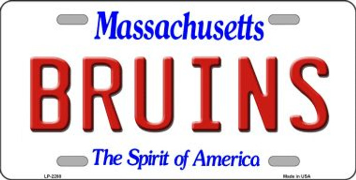 Bruins Massachusetts State Background Novelty Wholesale Metal License Plate LP-2288