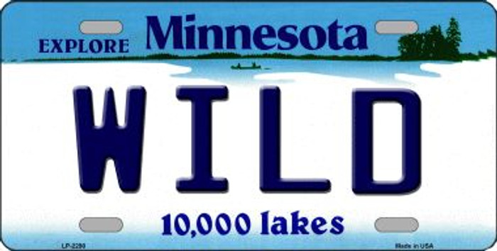 Wild Minnesota State Background Wholesale Metal License Plate LP-2290