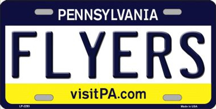 Flyers Pennsylvania Novelty State Background Wholesale Metal License Plate LP-2293