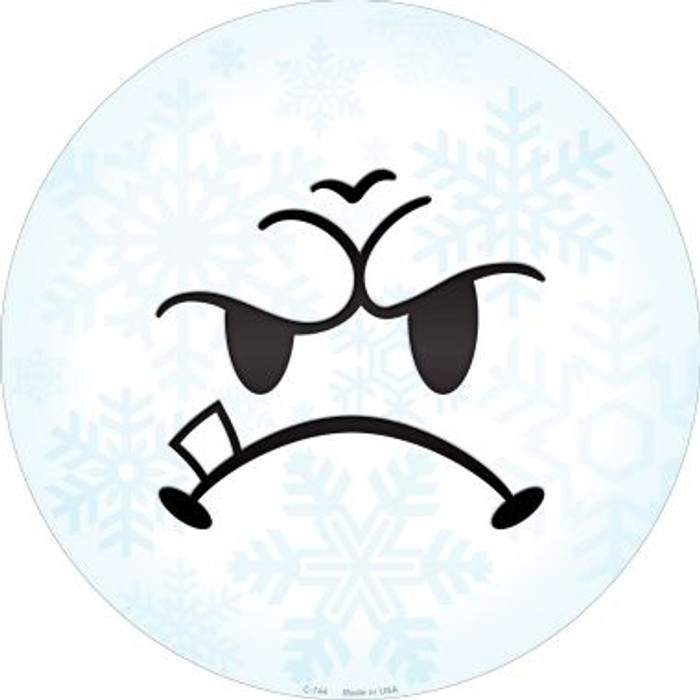 Mean Face Snowflake Wholesale Novelty Metal Circular Sign