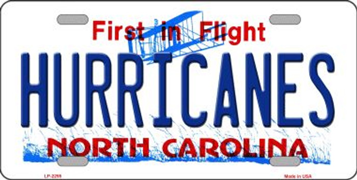 Hurricanes North Carolina Novelty State Background Wholesale Metal License Plate LP-2295