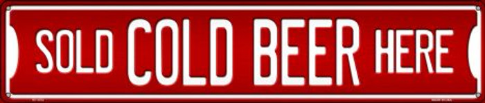 Cold Beer Here Wholesale Novelty Metal Street Sign ST-1372