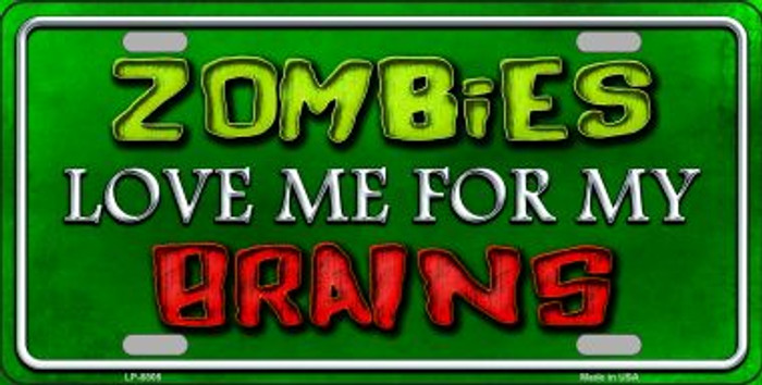 Zombies Love Me Wholesale Metal Novelty License Plate