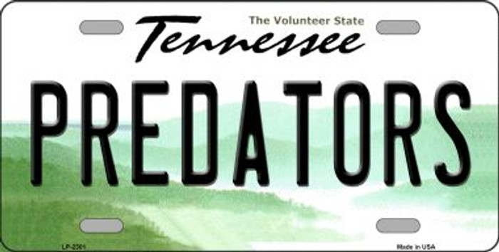 Predators Tennessee Novelty State Background Wholesale Metal License Plate LP-2301