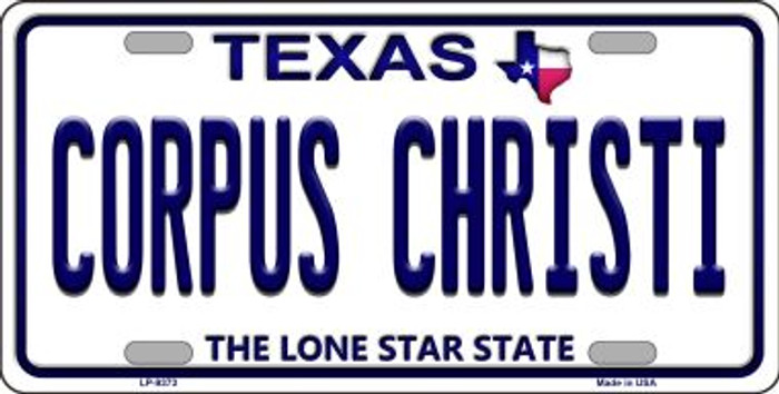 Corpus Christi Texas Background Novelty Wholesale Metal License Plate