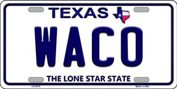 Waco Texas Background Novelty Wholesale Metal License Plate