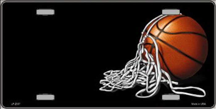 Basketball With Net Offset Wholesale Metal Novelty License Plate