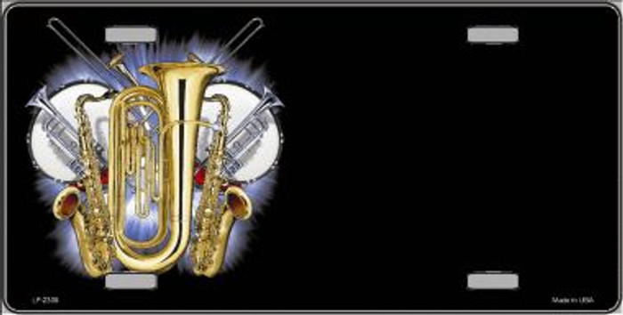 Band Musical Instruments Offset Wholesale Metal Novelty License Plate