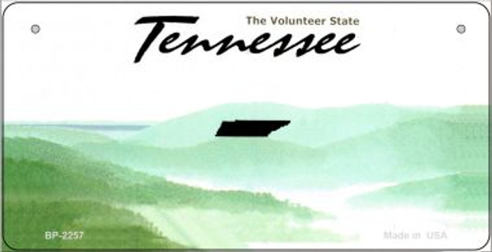 Tennessee Novelty State Background Bicycle License Plate