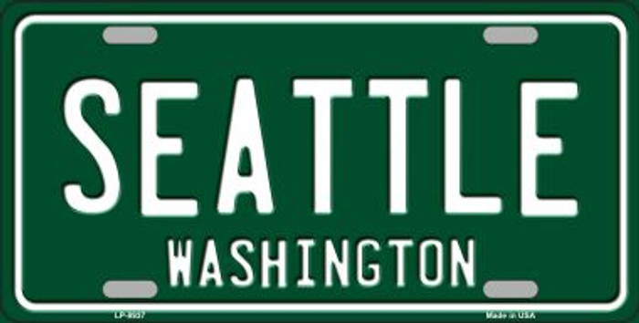 Seattle Washington Green Background Wholesale Metal Novelty License Plate