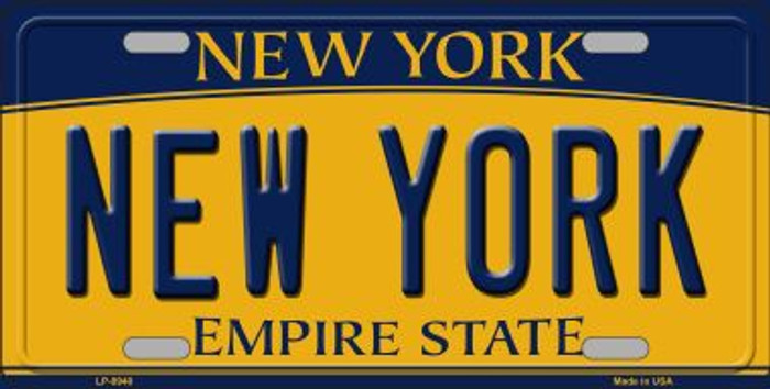 New York Background Wholesale Metal Novelty License Plate