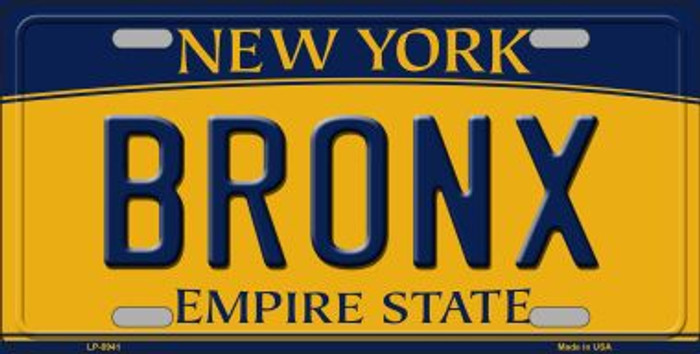 Bronx New York Background Wholesale Metal Novelty License Plate