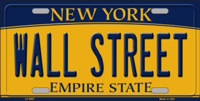 Wall Street New York Background Wholesale Metal Novelty License Plate