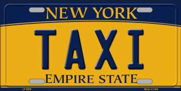 Taxi New York Background Wholesale Metal Novelty License Plate