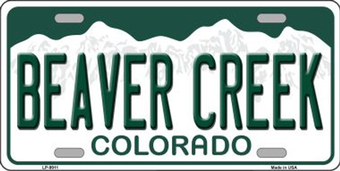 Beaver Creek Colorado Background Wholesale Metal Novelty License Plate