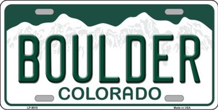 Boulder Colorado Background Wholesale Metal Novelty License Plate
