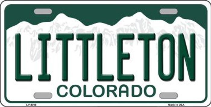 Littleton Colorado Background Wholesale Metal Novelty License Plate